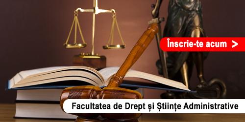 Admitere Online - Facultatea de Drept și Științe Administrative