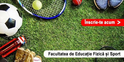 Admitere Online - Facultatea de Educație Fizică și Sport