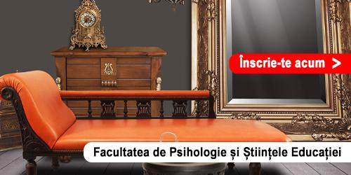 Admitere Online - Facultatea de Psihologie și Științele Educației
